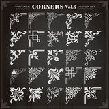 Vintage Design Elements Corners And Borders Set 4 royalty free illustration