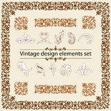 Vintage design elements set. Vector illustration Royalty Free Stock Photo