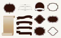 Vintage design elements set. royalty free illustration