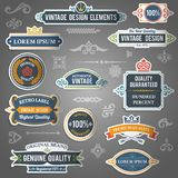 Vintage design elements stickers Stock Photos