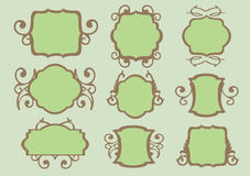 Vintage design floral borders Stock Photo