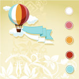 Vintage design with flying balloon Stock Image