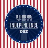 Vintage design for fourth of July Independence Day USA. Designed in traditional american flag colors and retro elements. Stock Photo