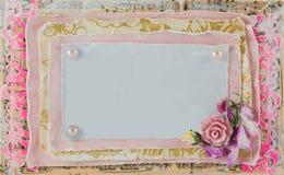 Vintage Design frame for text or photo handmade Stock Photo