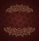 Vintage design for greeting card Royalty Free Stock Photos