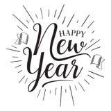 Vintage design hand lettering emblem Happy New Year celebration. Vintage letter happy new year for element design. Vector illustration EPS.8 EPS.10 stock illustration