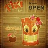 Vintage design hawaii menu royalty free illustration