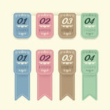 Vintage Design Labels infographic template . Stock Photography