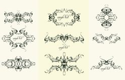 vintage design ornaments Royalty Free Stock Photography