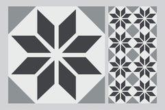 Vintage design patterned blue Tile Royalty Free Stock Photos