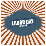 Vintage design poster for the US Labor day. For web design and application interface, also useful for infographics. Vector illustration Stock Image