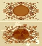 Vintage design renaissance emblem. Vintage design renaissance frame emblem Stock Photos