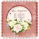 Vintage design with roses Royalty Free Stock Photography