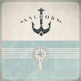 Vintage Design Template With Anchor vector illustration