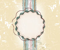 Vintage design template for greeting card Stock Photo