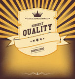Vintage design template with label Royalty Free Stock Image