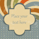 Vintage design template. Retro styled image Stock Photo