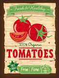 Vintage Design Tomatoes Poster Royalty Free Stock Image