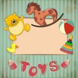 Vintage Design Toys Frame Stock Image