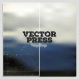 Vintage design vector press template. Summer time Royalty Free Stock Photography