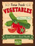 Vintage Design Vegetables Poster Stock Photos