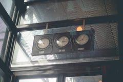 Vintage design of wall clock Stock Photos