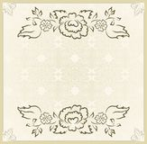 Vintage design for wedding card Royalty Free Stock Image