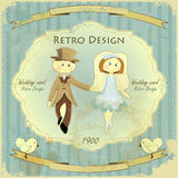 Vintage Design Wedding Card Stock Images