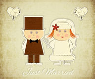 Vintage Design Wedding Card Stock Image