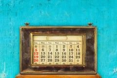 Vintage desktop calendar Stock Photos