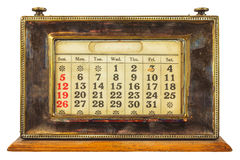 Vintage desktop calendar isolated on white Stock Photography
