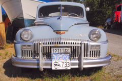 Vintage 1948 DeSoto. A 1948 Chrysler Fluid Drive DeSoto in original condition Stock Images