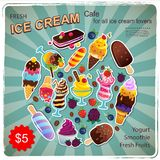 Vintage Dessert illustration for your business Royalty Free Stock Image
