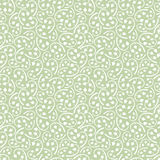 Vintage Detailed Floral Seamless Pattern. Background from White Leaves and Branches on Hemlock Green Background in Boho Style, also saved in Swatch Panel Royalty Free Stock Images
