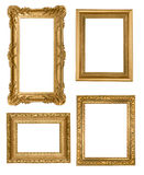 Vintage Detailed Gold Empty Picure Frames royalty free stock image