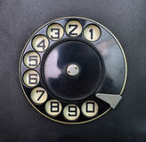 Vintage dial disk Royalty Free Stock Photography