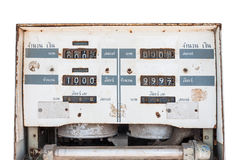 Vintage dial fuel dispenser with thai Stock Photography