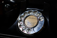 Vintage dial phone Royalty Free Stock Photos