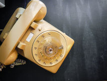 Vintage dial phone stock images