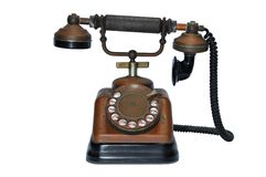Vintage dial telephone Stock Images