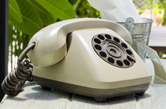 Vintage dial telephone Royalty Free Stock Image