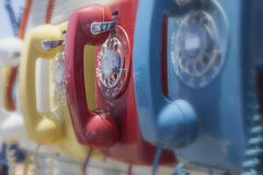 Vintage Dial Telephones Royalty Free Stock Photos
