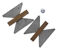 Vintage diamond angle gauges Stock Photos