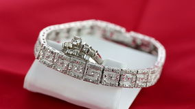 Vintage Diamond Jewelry and ring stock video footage