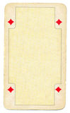 Vintage diamond playing card empty background Stock Image