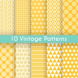 Vintage different vector seamless patterns Stock Image