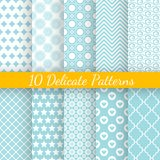 Vintage different vector seamless patterns. 10 Vintage different vector seamless patterns. Endless texture for wallpaper, fill, web page background, surface Vector Illustration