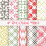 Vintage different vector seamless patterns Stock Images