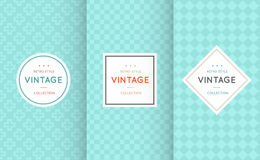 Vintage different vector seamless patterns. Stock Photo