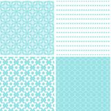 Vintage different vector seamless patterns. Set of geometric ornament Stock Illustration